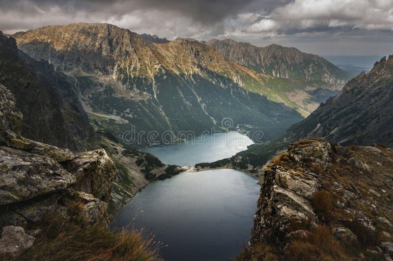 Bergseen im hohen Tatras stockfotos