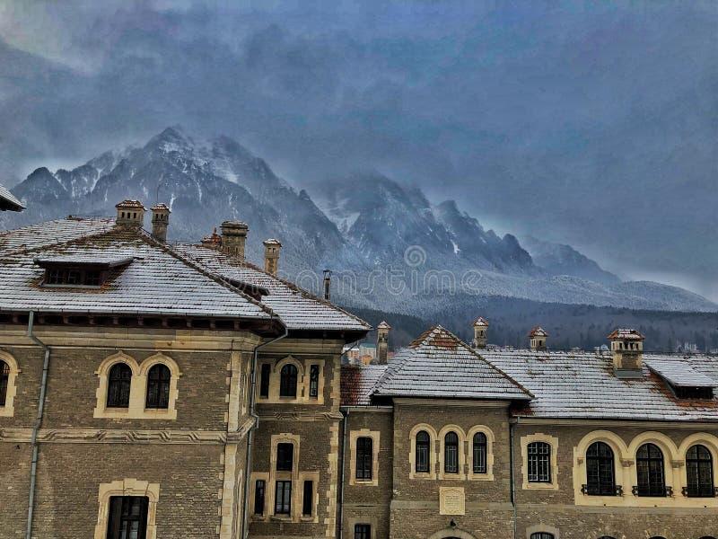 Bergsida - Carphatian berg arkivfoto