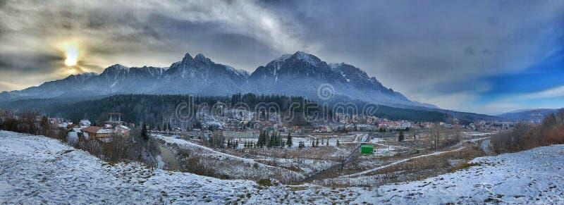 Bergsida - Carphatian berg fotografering för bildbyråer