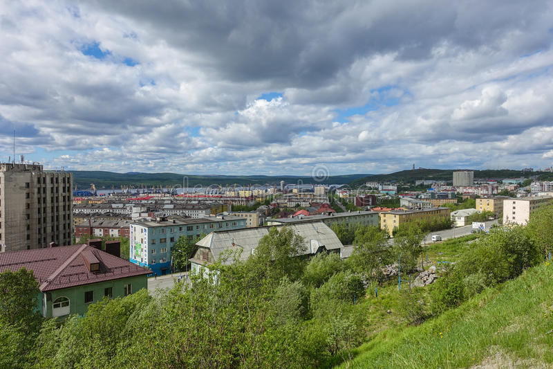 Bergsikt av Murmansk arkivbilder