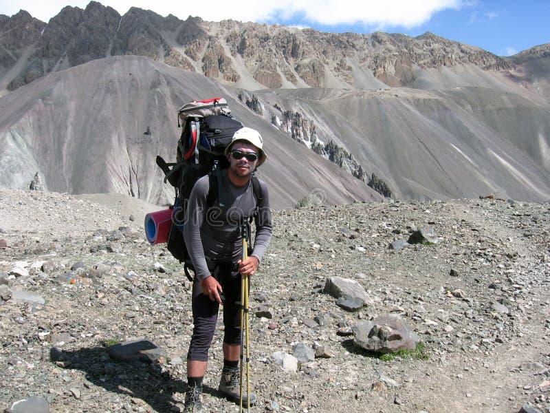 Bergslepen van Centraal-Azië stock fotografie