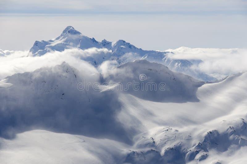Bergsneeuwstorm stock foto
