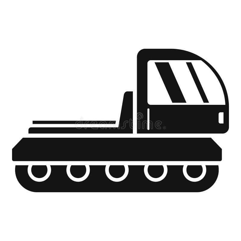 Bergsnowcatsymbol, enkel stil royaltyfri illustrationer