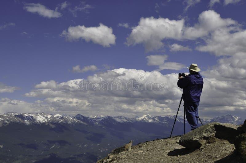 Bergspitzenphotograph stockfoto
