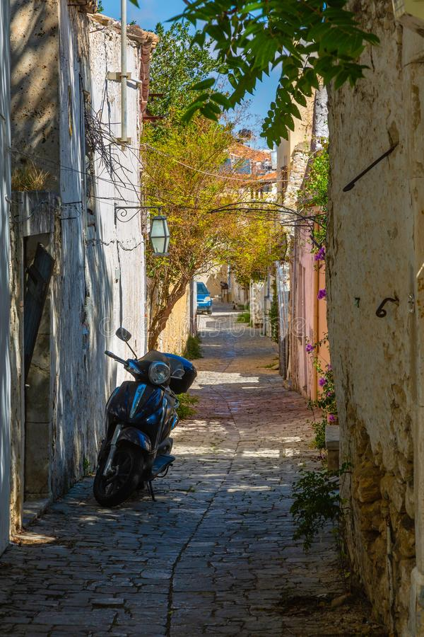 Bergstadt von Archanes auf der Insel von Kreta stockfotos