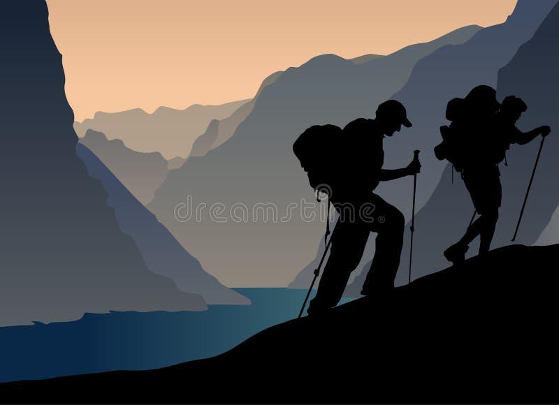 Bergsteiger lizenzfreie abbildung