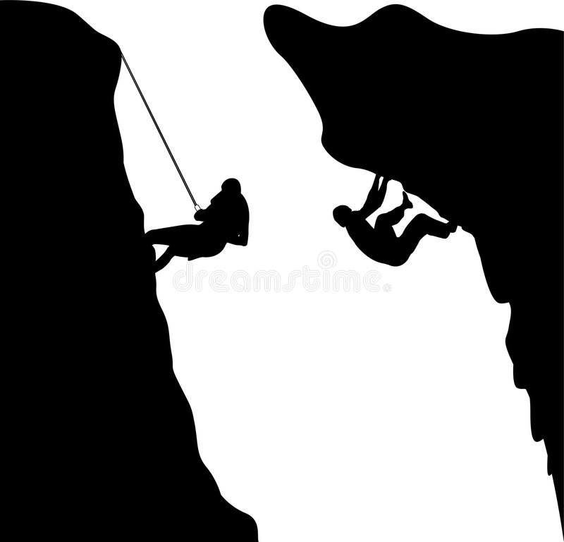 Bergsteiger stock abbildung
