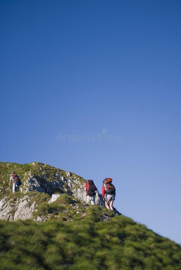 Bergsteiger stockfoto