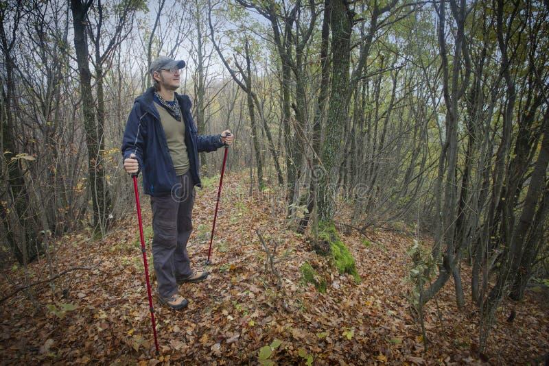 Bergsteiger in der Natur lizenzfreie stockfotografie
