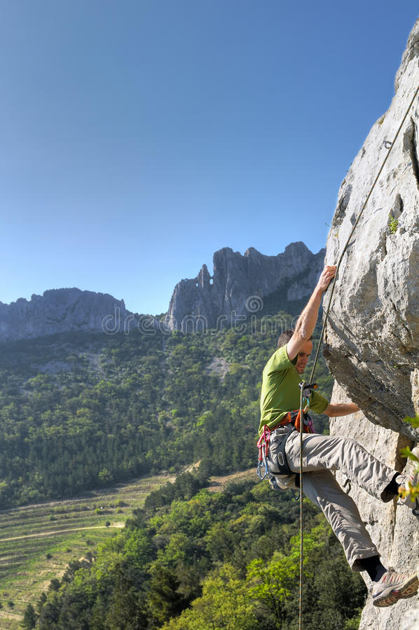 Bergsteiger-vier stockfotografie