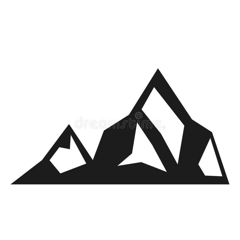 Bergsvartsymbol, miljö och affärsföretagbeståndsdel stock illustrationer