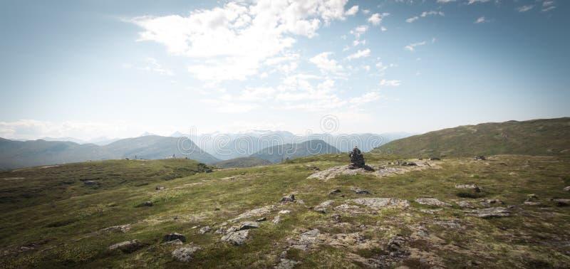 Bergtop Sunndalen stock fotografie