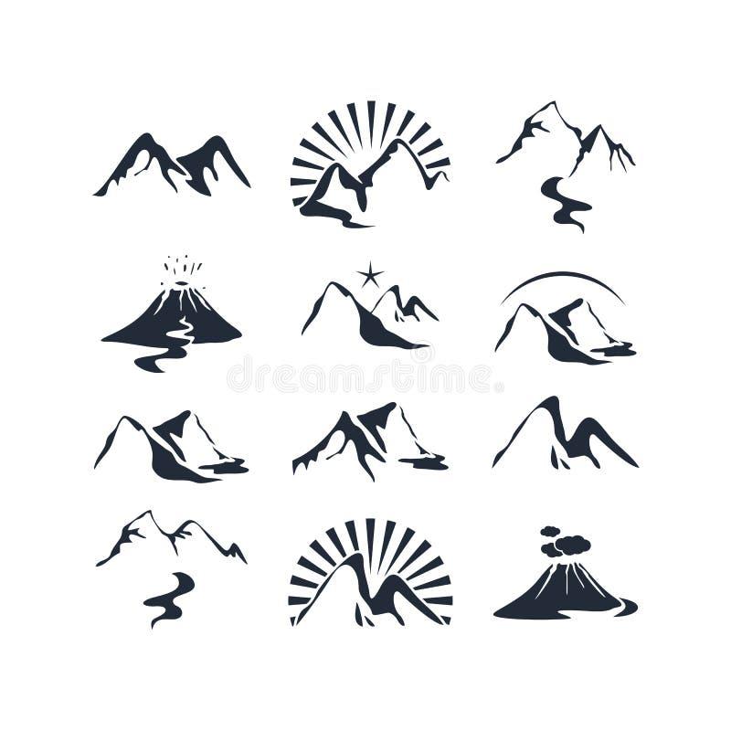 Berguppsättning royaltyfri illustrationer
