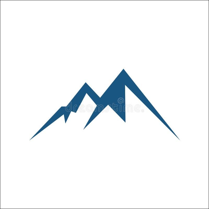 Bergvektorsymbol som isoleras på vit bakgrund royaltyfri illustrationer