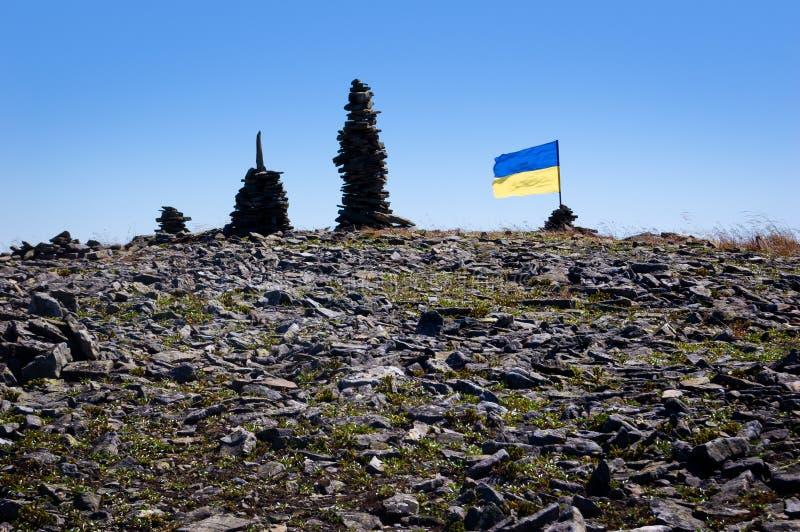Bergwanderung in den ukrainischen Karpaten stockfotos
