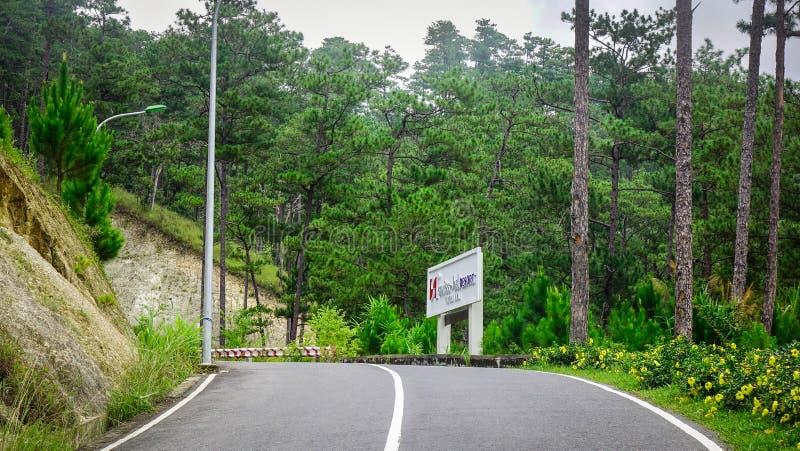Bergweg in Dalat, Vietnam royalty-vrije stock fotografie