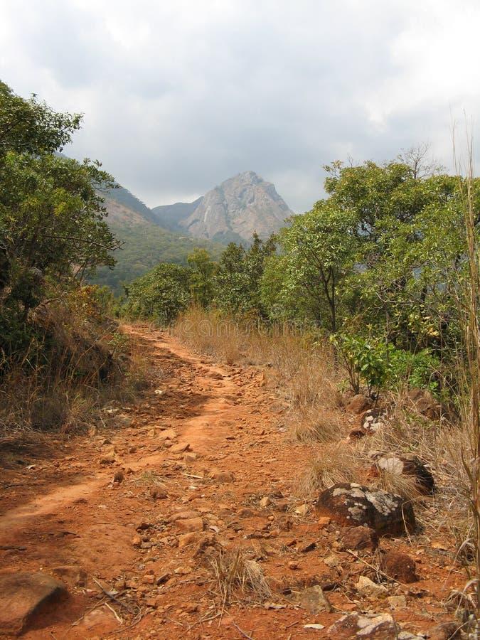 Bergweg, Malawi stockbilder