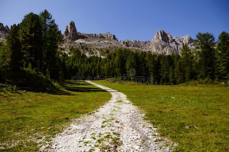 Bergweg naar de bovenkant stock foto