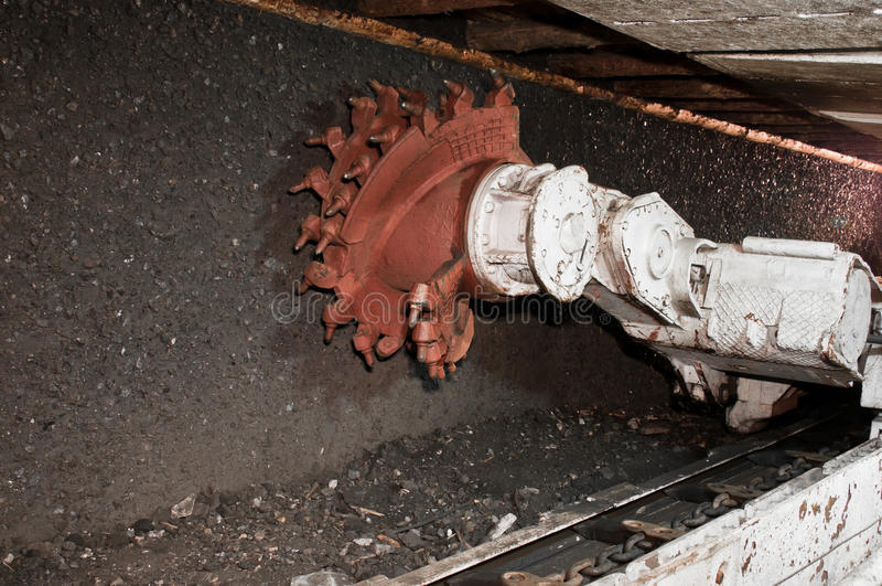 Bergwerksmaschine lizenzfreie stockfotografie