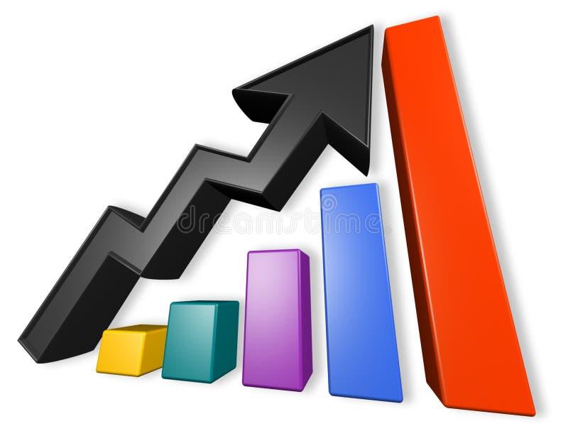 Bericht-Diagramm stock abbildung