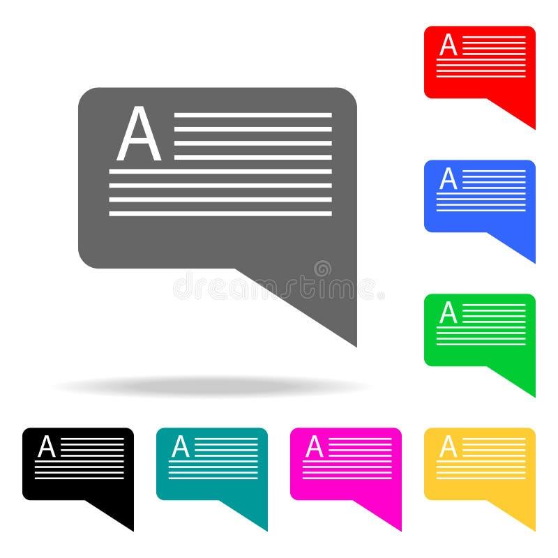 bericht met tekstpictogrammen Elementen van menselijke Web gekleurde pictogrammen Grafisch het ontwerppictogram van de premiekwal royalty-vrije illustratie