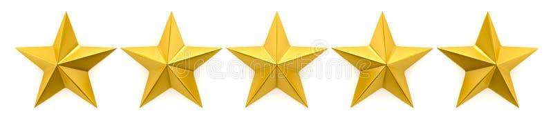 Bericht mit einen bis fünf Sternen stock abbildung