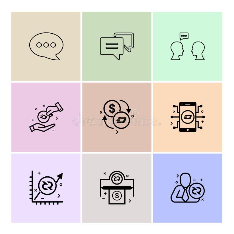 bericht, praatje, mobiel gesprek, munt, grafiek, geld royalty-vrije illustratie
