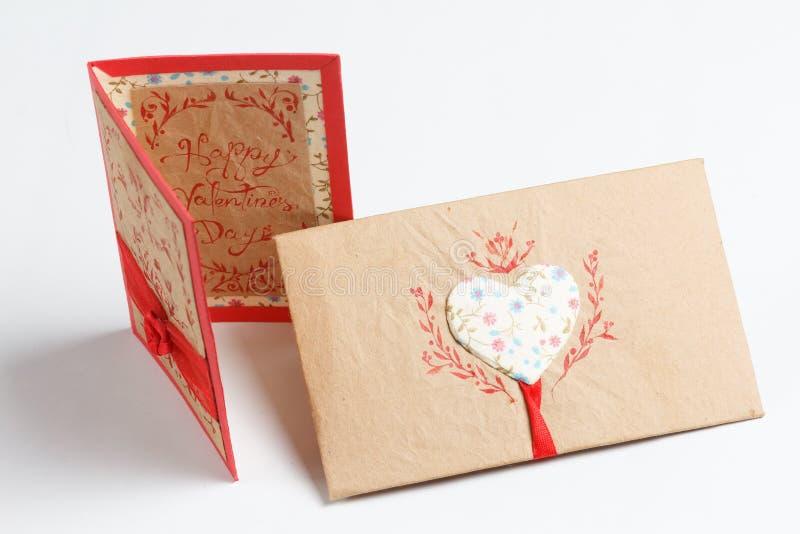 Bericht van de de dag het met de hand gemaakte liefde van Valentine stock afbeelding