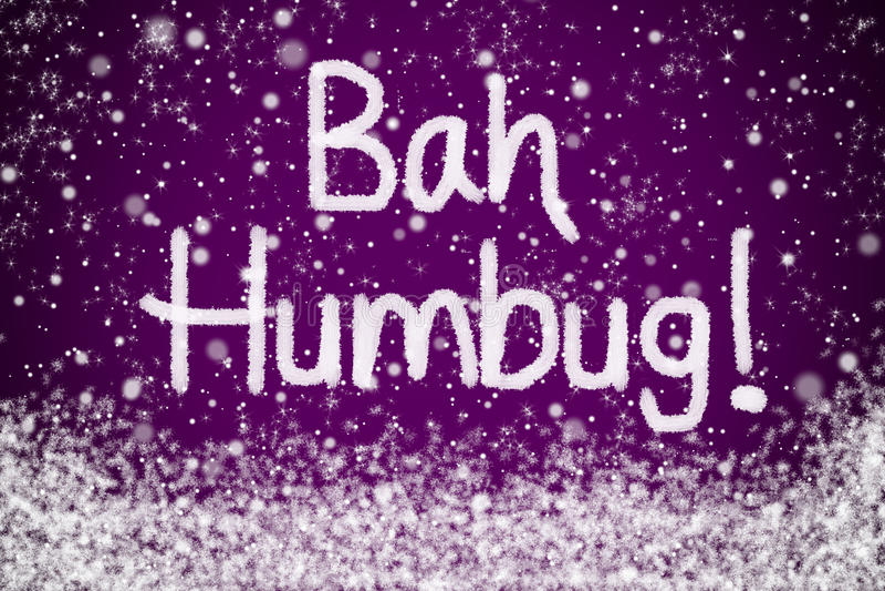 Bericht van Kerstmis van Humbug van Bah het Purpere stock illustratie