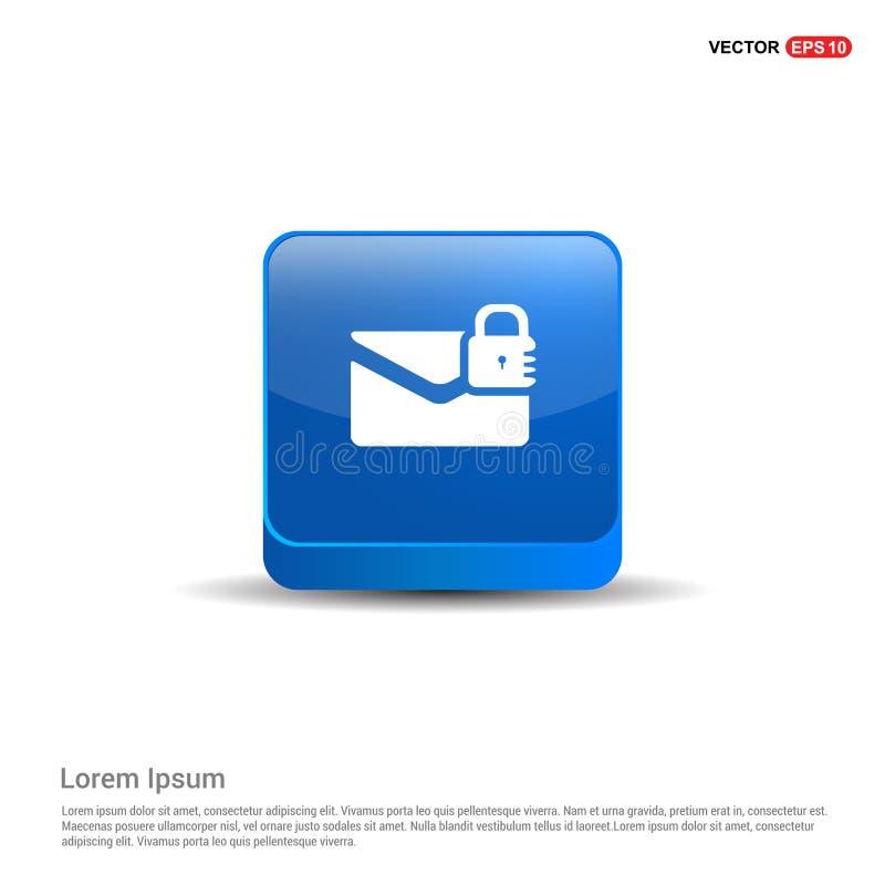 bericht veilig pictogram - 3d Blauwe Knoop stock illustratie