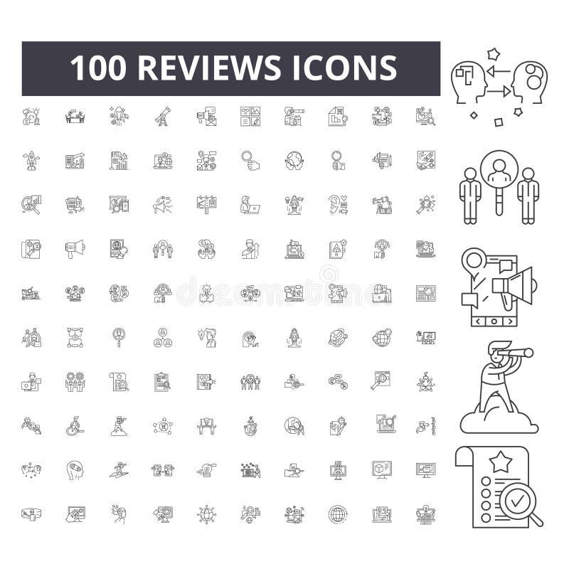 Berichte zeichnen Ikonen, Zeichen, Vektorsatz, Entwurfsillustrationskonzept lizenzfreie abbildung