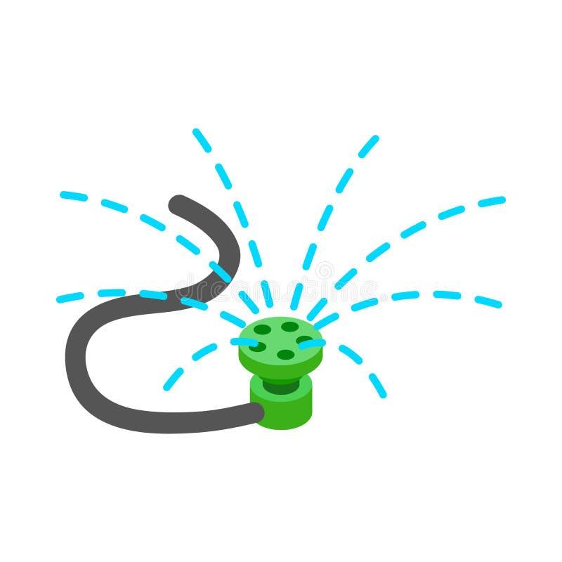Berieselungsanlagenikone, isometrische Art 3d lizenzfreie abbildung