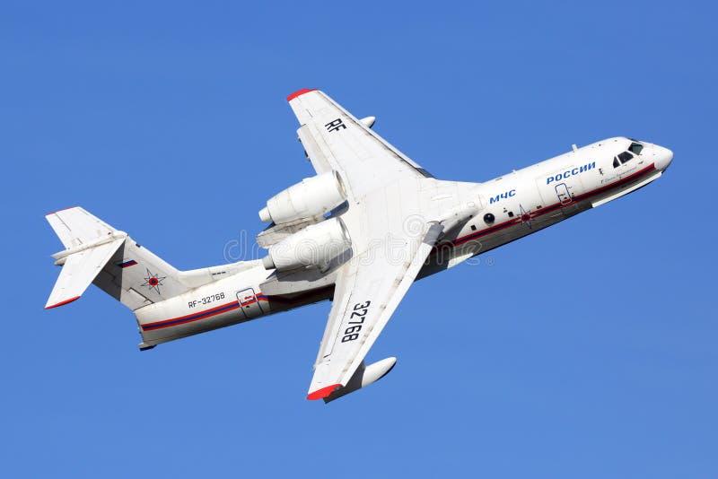 Beriev Be-200ChS RF-72368 indicato a airshow MAKS-2015 in Žukovskij fotografia stock libera da diritti