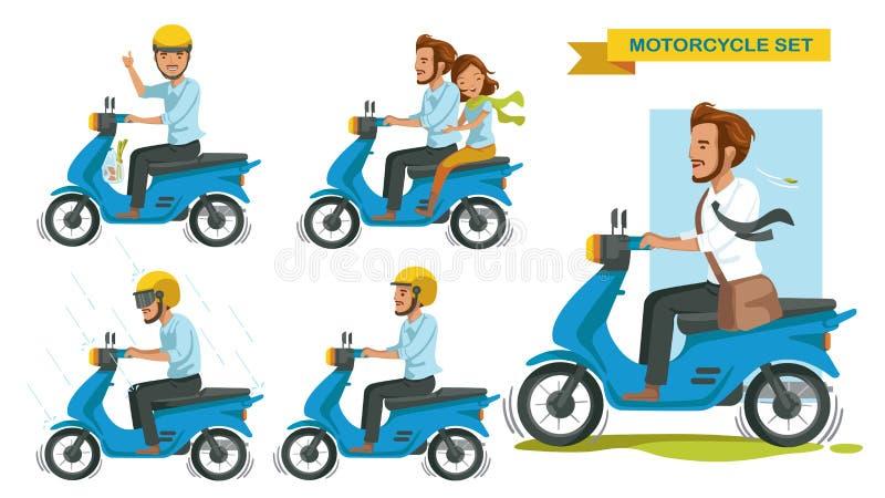 Berijdende motorfiets stock illustratie