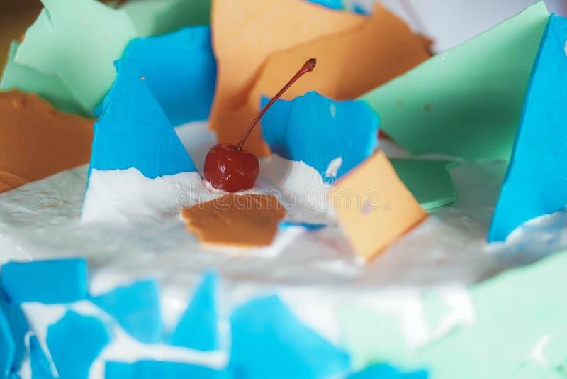 Berijpte Cakeclose-up stock foto's