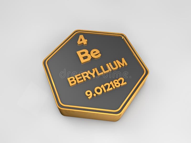 download berilio sea forma hexagonal de la tabla peridica del elemento qumico stock de - Tabla Periodica Berilio
