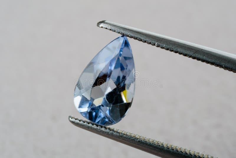 Berillo blu dell'acquamarina fotografia stock