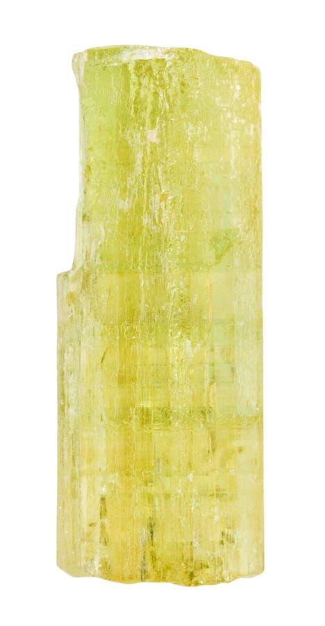 Berilo dourado de Heliodor, cristal amarelo do berilo imagem de stock