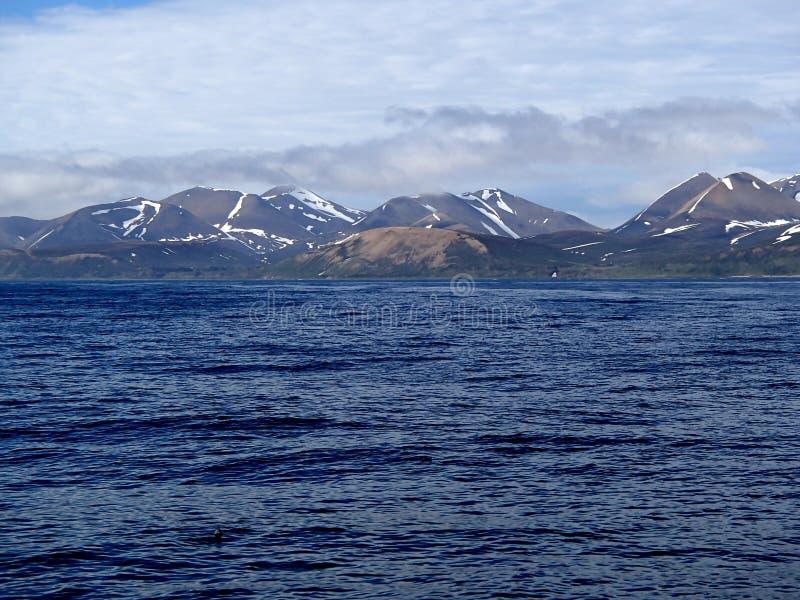 Bering Eiland het Bering Overzees, Bevelhebber Islands stock fotografie