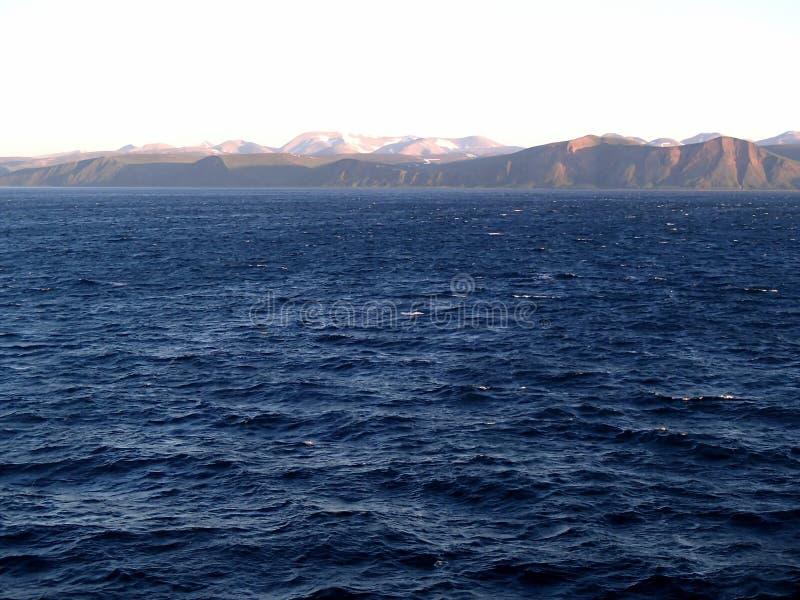Bering Eiland het Bering Overzees, Bevelhebber Islands royalty-vrije stock afbeeldingen