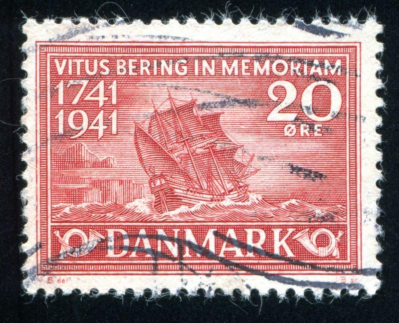 Bering Schip royalty-vrije stock afbeelding