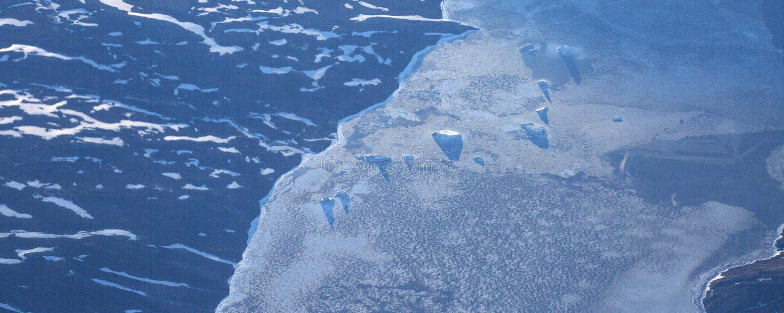Take a picture of the ice on the bering strait(10) royalty free stock image