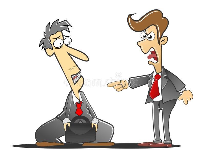 Berispte de werkgever royalty-vrije illustratie