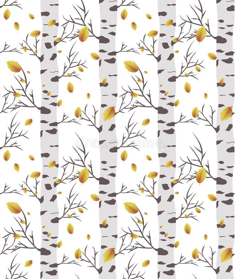 Berkboom autmn Naadloos patroon stock illustratie