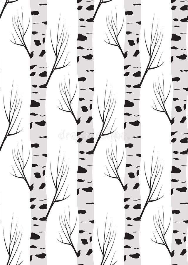 Berkboom autmn Naadloze patroonachtergrond royalty-vrije illustratie