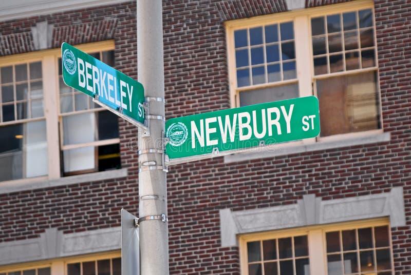 Berkeley e newbury fotografia stock
