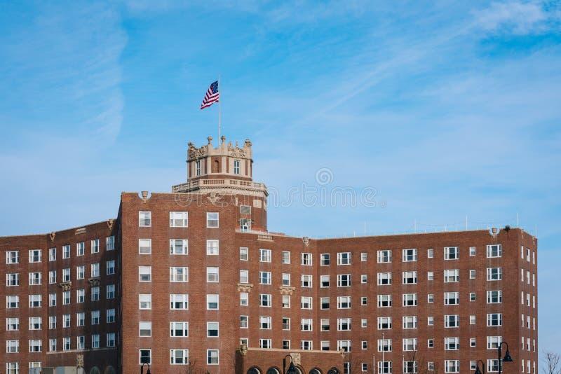 Berkeley Oceanfront Hotel en el parque de Asbury, New Jersey imagen de archivo libre de regalías