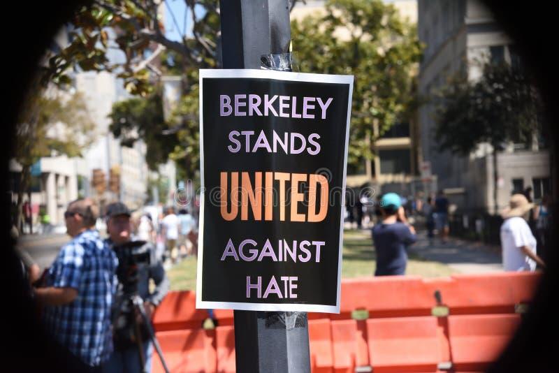 Berkeley Protests Against Fascism, racisme, et Donald Trump images libres de droits