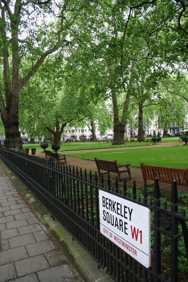 Berkeley Square, mayfair royalty free stock photos