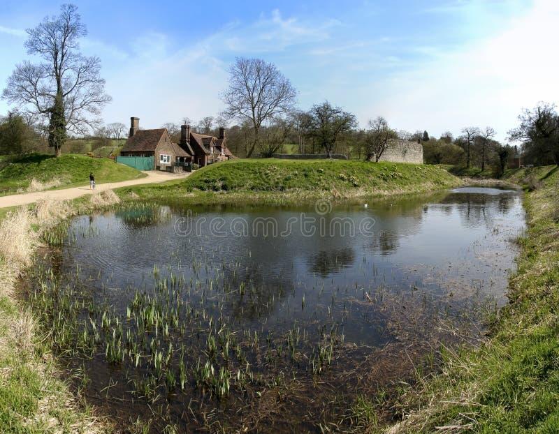 Berkhamsted castle panorama hertfordshire uk royalty free stock photography
